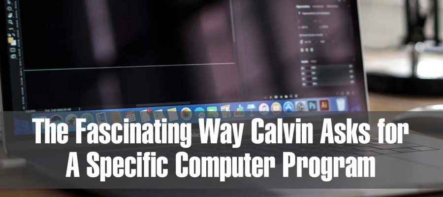 The Fascinating Way Calvin Asks for A Specific Computer Program